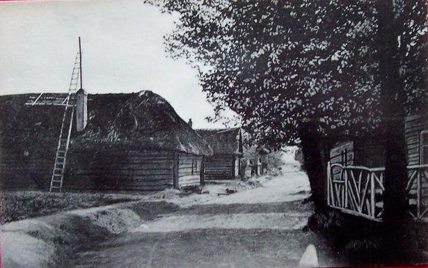 Вясковая вуліца ў в. Гацішча, верасень 1917