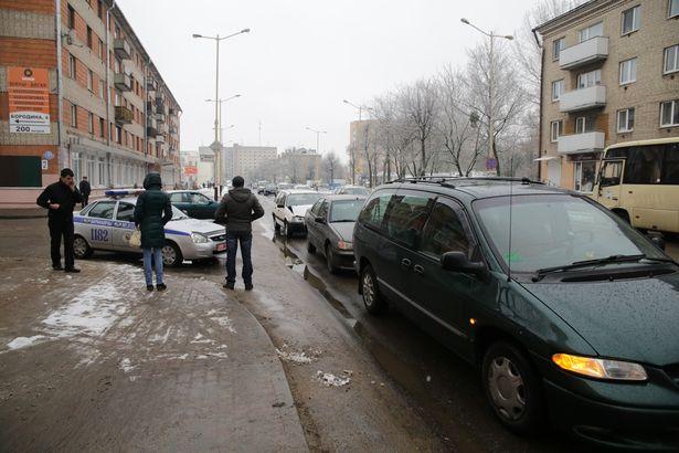 ФОТОФАКТ: В Барановичах столкнулись сразу три автомобиля