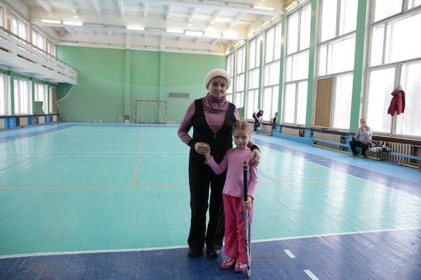 Нина Николаевна Штин с внучкой Александрой