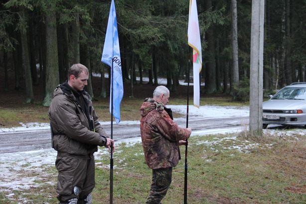 Поднятие флагов. Фото: Александр ТРИПУТЬКО