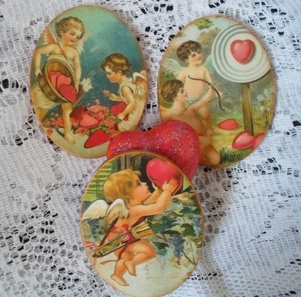 Винтажные ангелочки. Автор Наталья Дрозд. Фото из архива автора.