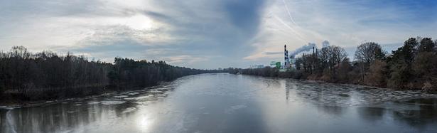 Панорамный вид на реку Неман с середины моста. Фото: Юрий ПИВОВАРЧИК