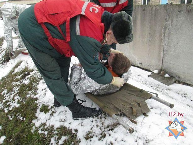 В Барановичском локомотивном депо прошли учения совместно с МЧС. Фото: с сайта МЧС http://mchs.gov.by