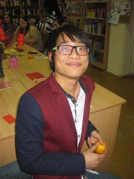 Студент БарГУ Цинь Хуань