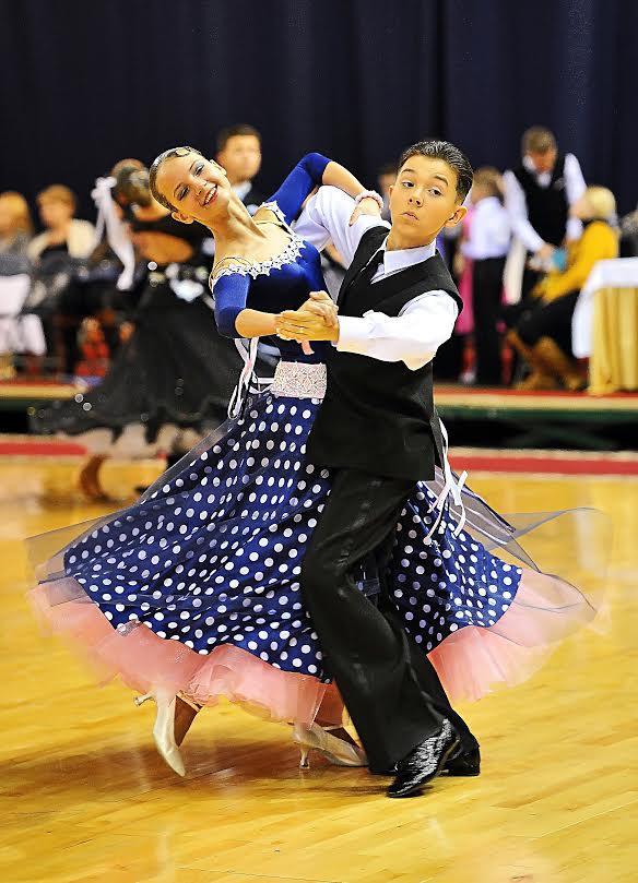Максим Кохнович и Александра Артюх стали вторыми на первенстве РБ по спортивным танцам. Фото: архив танцевальной пары