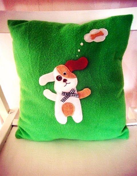 Подушка из фетра. Фото из архива автора.