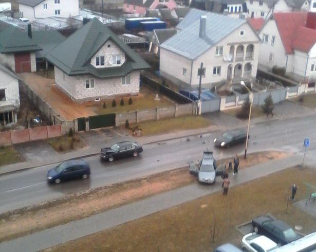Авария на ул. Багрима. Фото: Soul Reaver, в группе Подслушано Барановичи