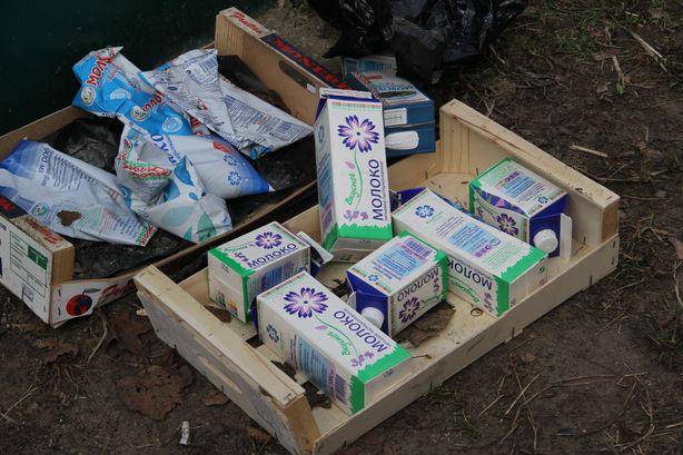 Пакеты молока с просроченным сроком годности. Фото: Александр ТРИПУТЬКО