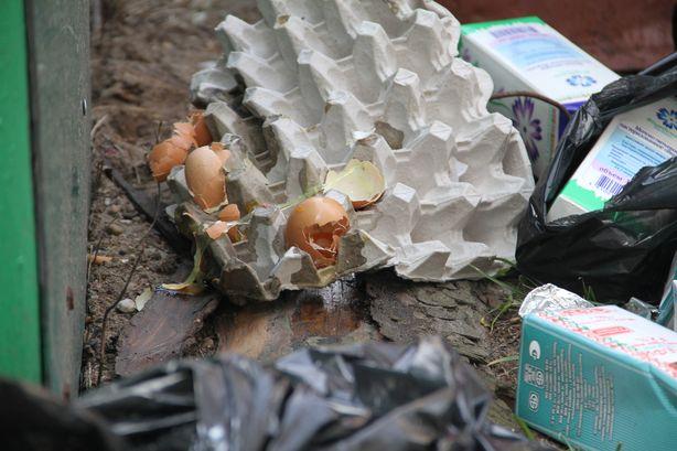 Продукты питания возле мусорных контейнеров. Фото: Александр ТРИПУТЬКО