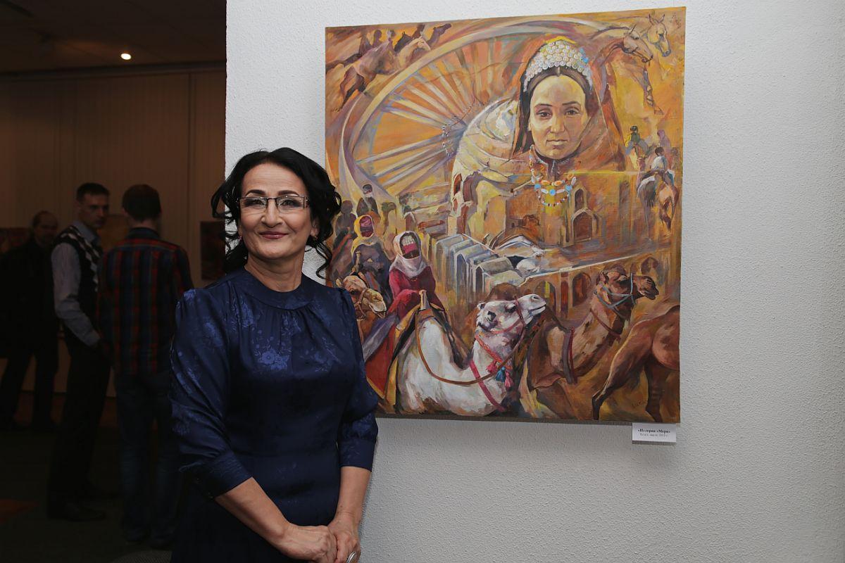 На этой картине  Огулсурай Акмурадова изобразила свою маму