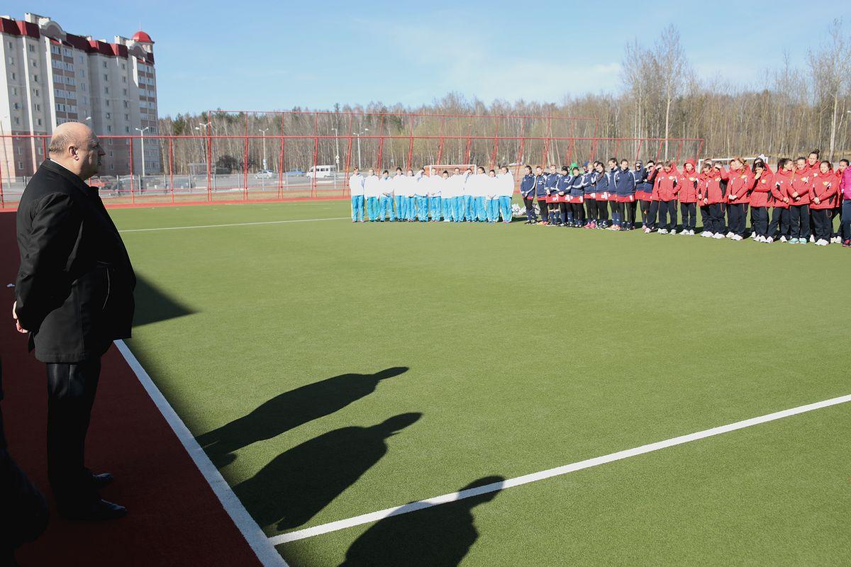 Заместитель председателя Белорусской федерации хоккея на траве Олег Величко на открытии турнира