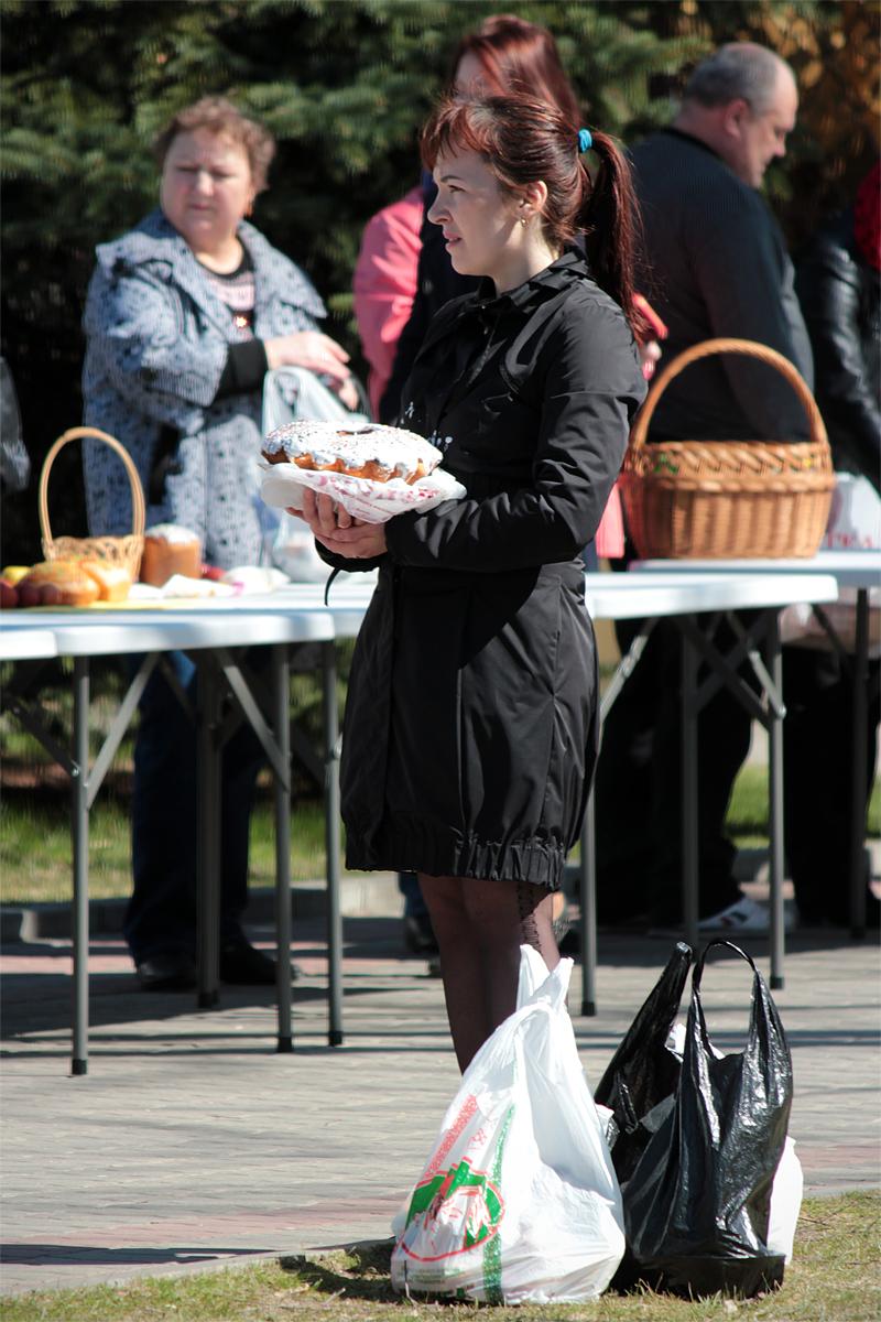 Освящение пасхальной пищи в храмах г. Барановичи. Фото: Юрий ПИВОВАРЧИК