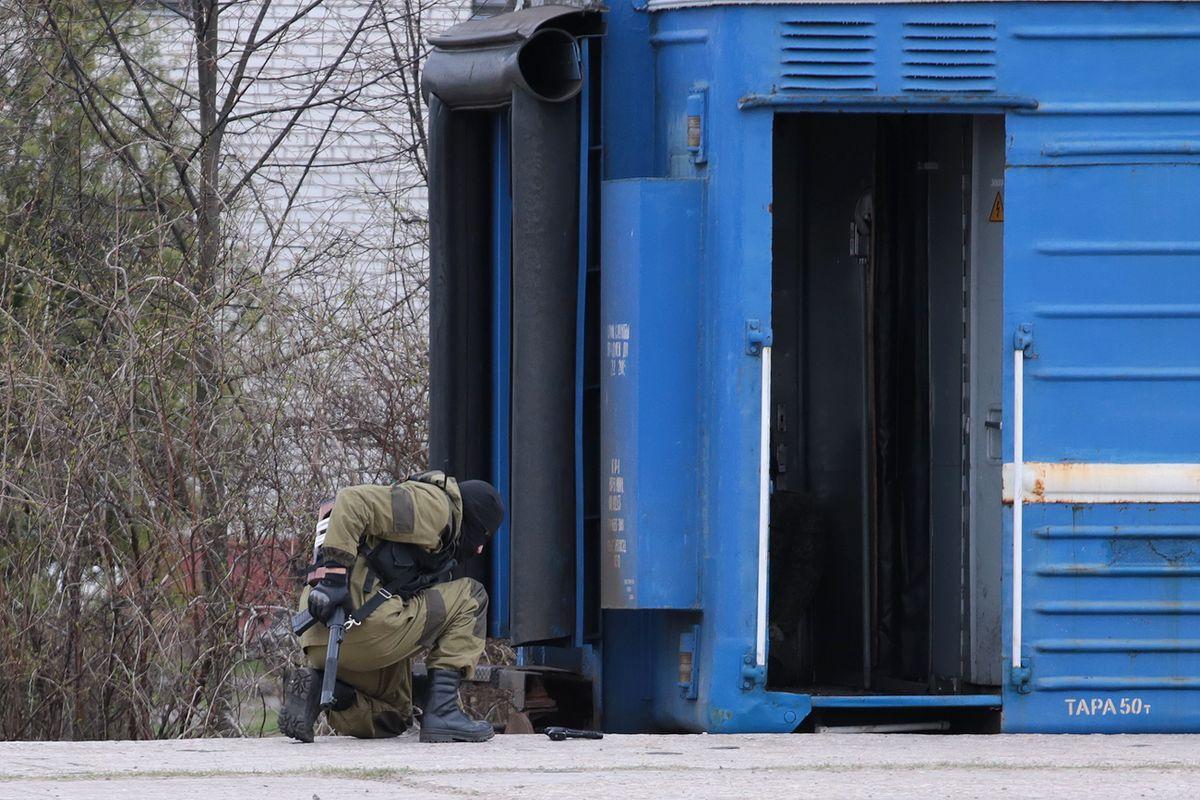 В Барановичах прошли масштабные учения сил территориальной обороны. Фото: Дмитрий МАКАРЕВИЧ