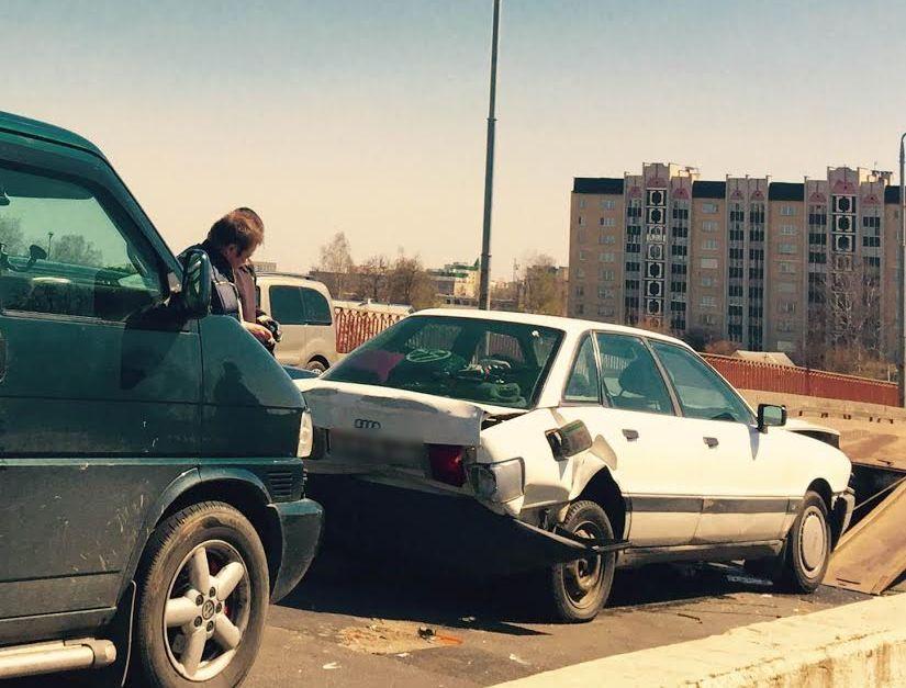 Авария на путепроводе на проспекте Советском