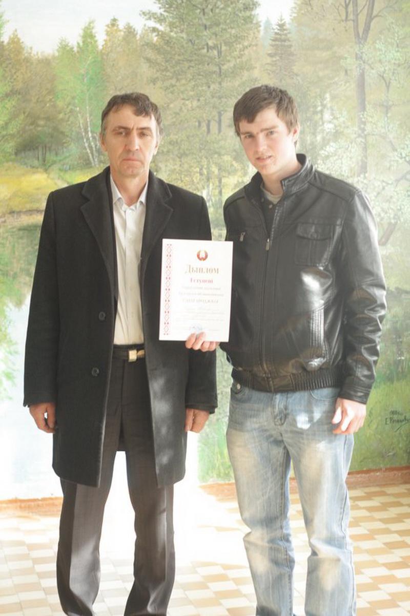 Максим Дубина после награждения