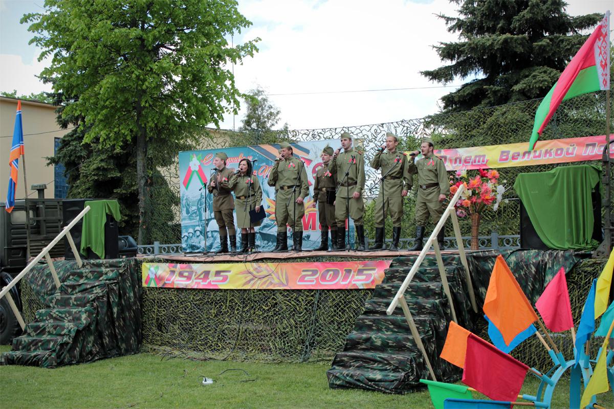 Концертная программа «Весна Победы» рядом с вокзалом Барановичи-Полесские