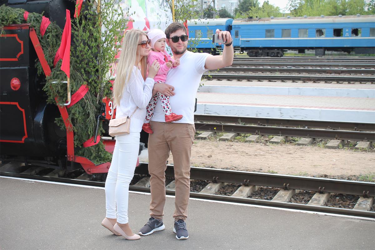 Селфи с «Поездом Победы»