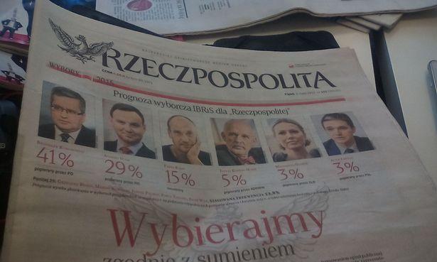 Предвыборные прогнозы в газете Rzeczpospolita
