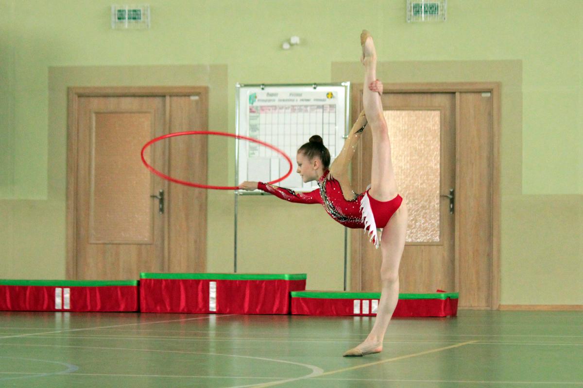 Выступление спортсменов школы гимнастики и акробатики