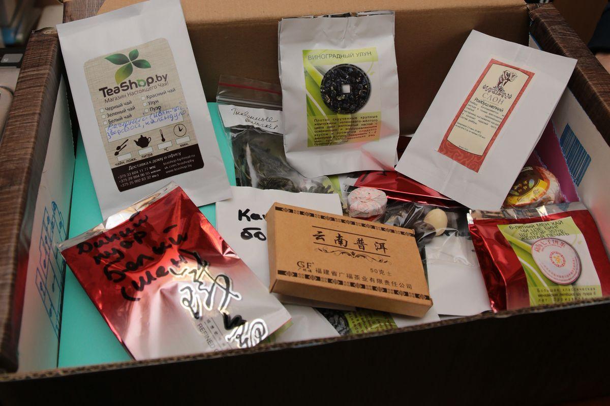 Содержимое чайной коробки будет меняться в зависимости от вкусов участников.