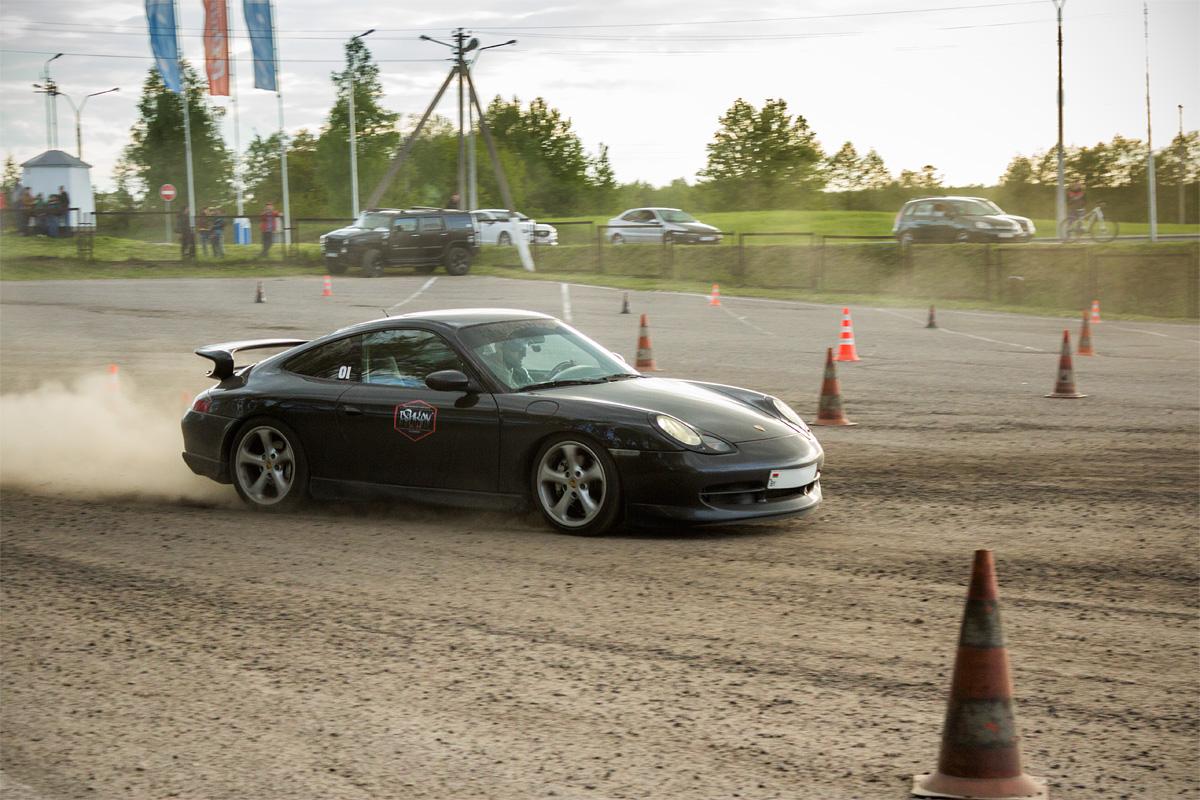 Игорь на Porsche Carrera – на финише