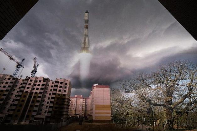 Дуб вырос и ракету запустили. Фото:http://vk.com/podslyshano_baranovichi  @Али Кагиров