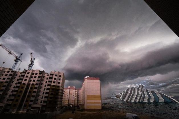 И корабль прилег отдохнуть!). Фото:http://vk.com/podslyshano_baranovichi @Александр Тристень