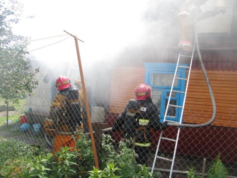 Пожар на ул. Циолковского.