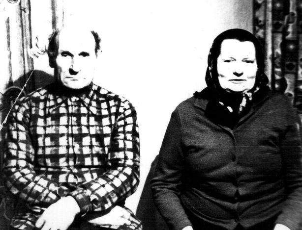 Ілья Васільевіч Паршонак і яго жонка Матрона Ігнацьеўна. Фота: архіў сям'і.