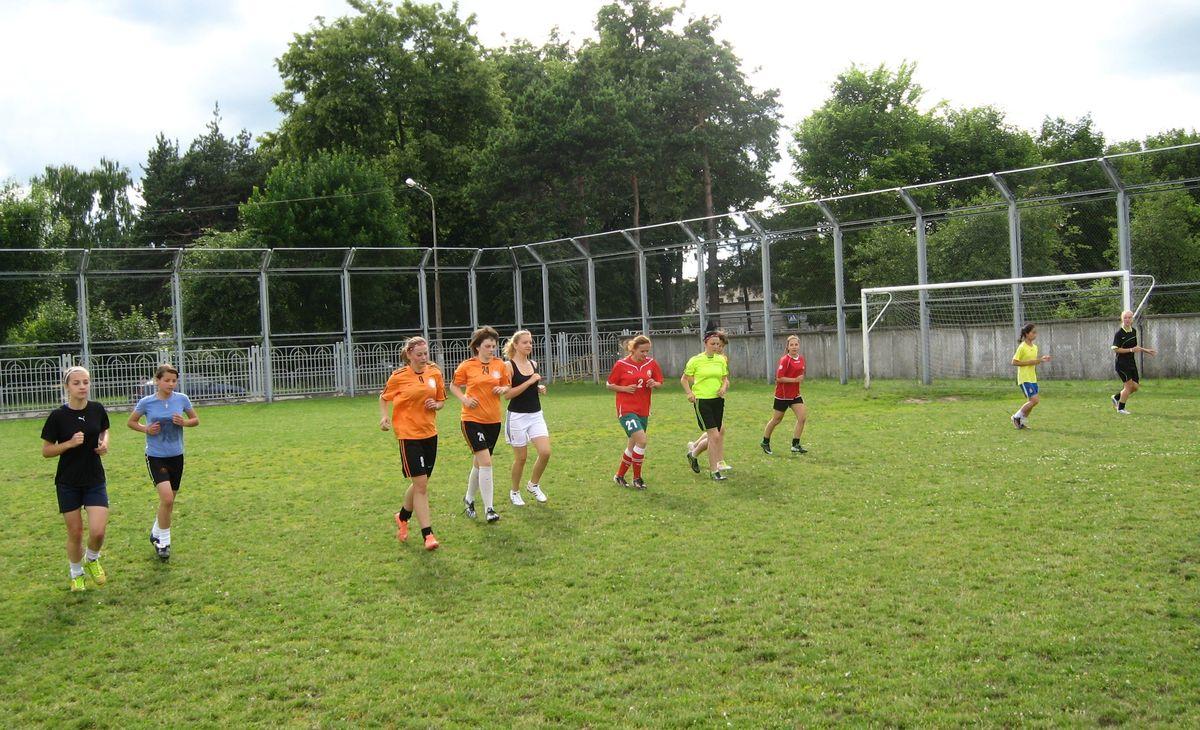 Тренировка женской сборной Брестской области. Фото: Алексей БЕЛЫЙ