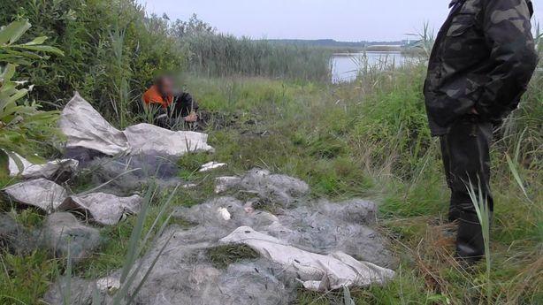 Браконьеры расставили на водоеме Сочивки 10 сетей. Фото предоставлено Барановичской межрайонной инспекцией охраны животного и растительного мира при Президенте Республики Беларусь.