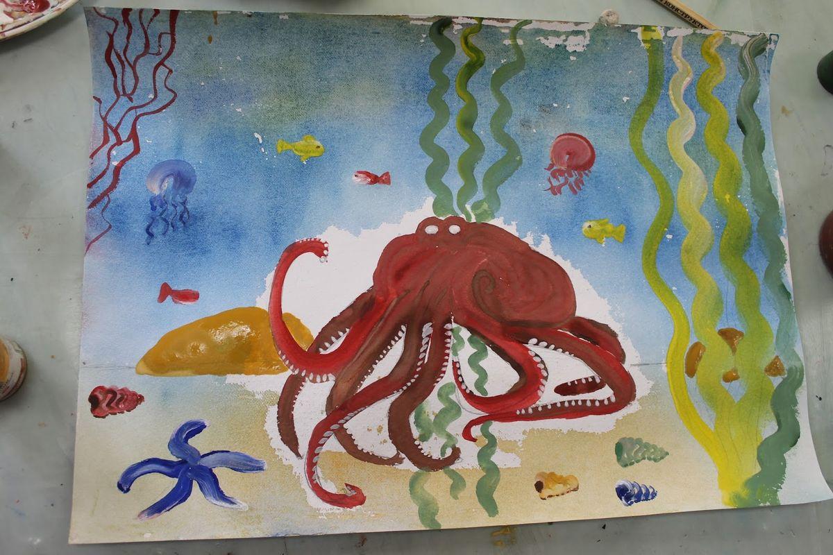 Серьезный осьминог Татьяны Дерман. Фото: Катя ГЕТЦ