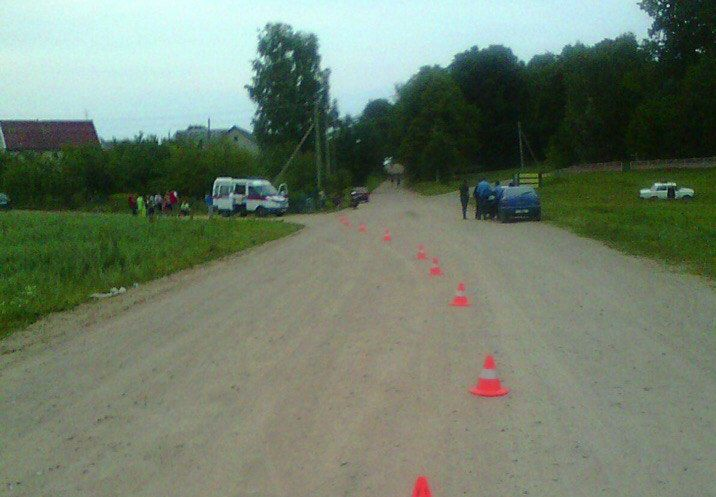 На месте аварии. фото: предоставлено ОГАИ Барановичского РОВД