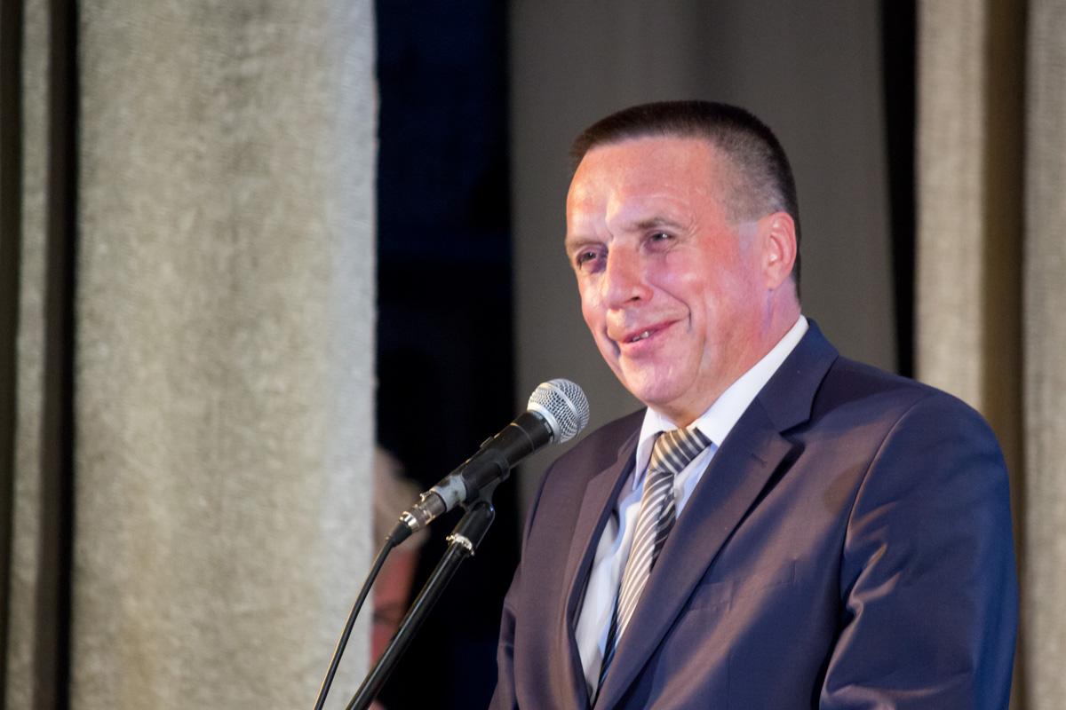 Председатель райпрофсожа Иван Колоденко обращается с поздравлением к барановичским железнодорожникам
