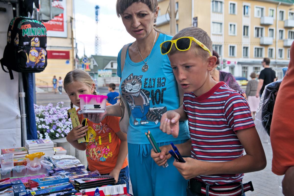Школьная ярмарка в Барановичах