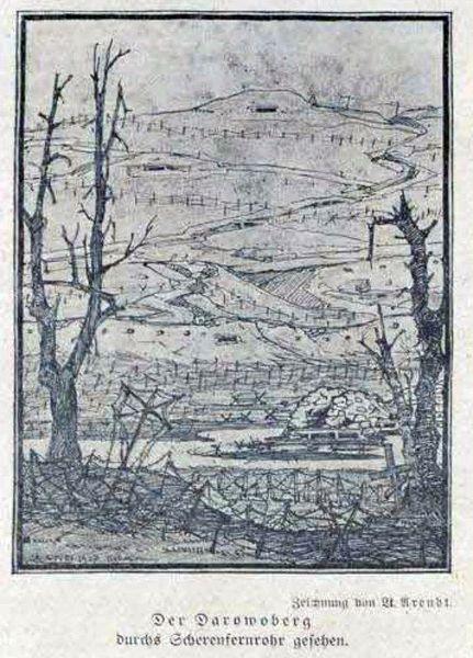 Умацаванні пад Даравам (з газеты Deutsche Kriegszeitung von Baranowitschi)