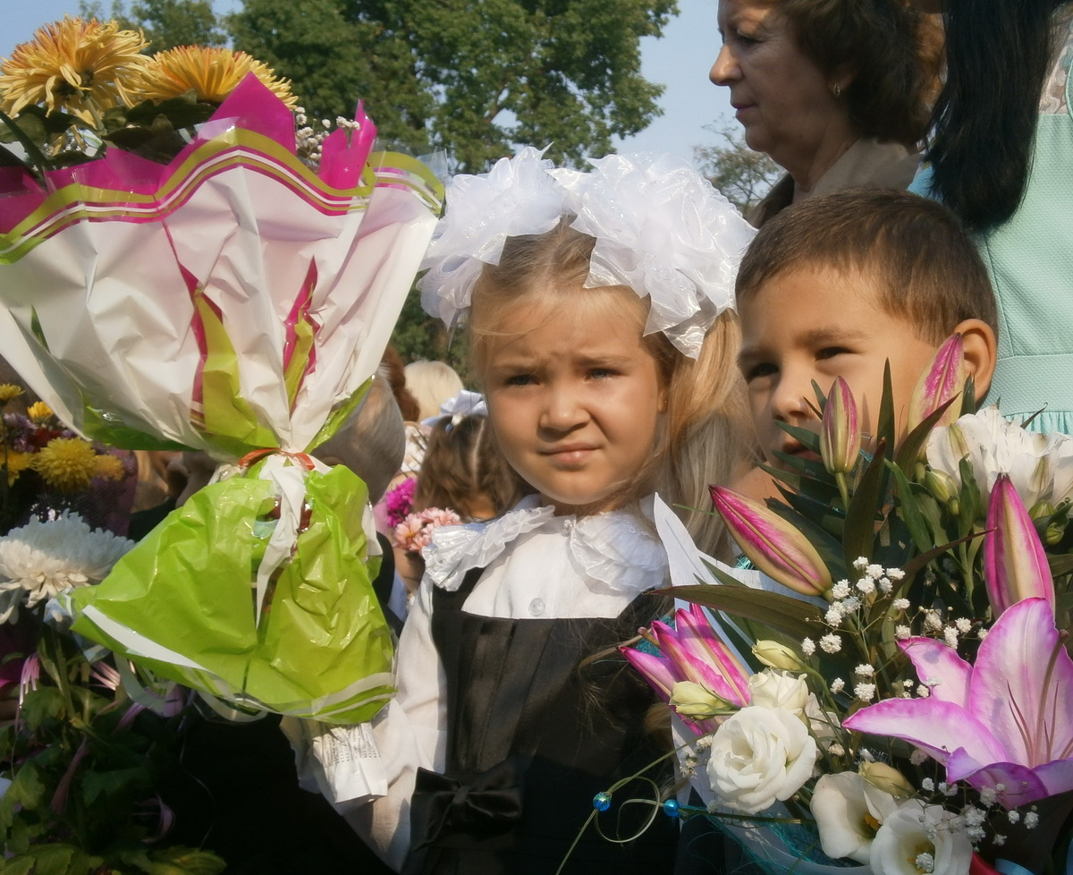 Первоклассники. Школа № 12 г. Барановичи. Фото: Наталья СЕМЕНОВИЧ