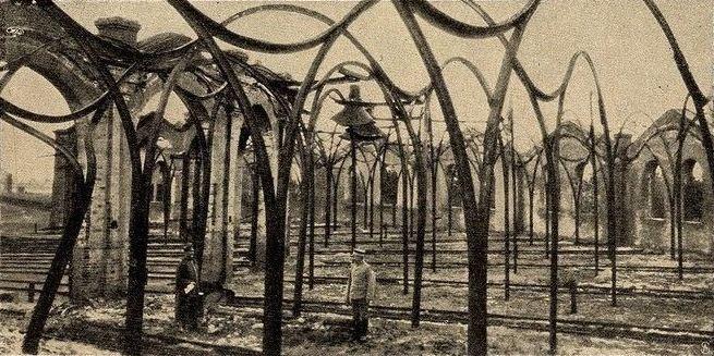 Баранавічы. Руіны машыннай залы дэпо