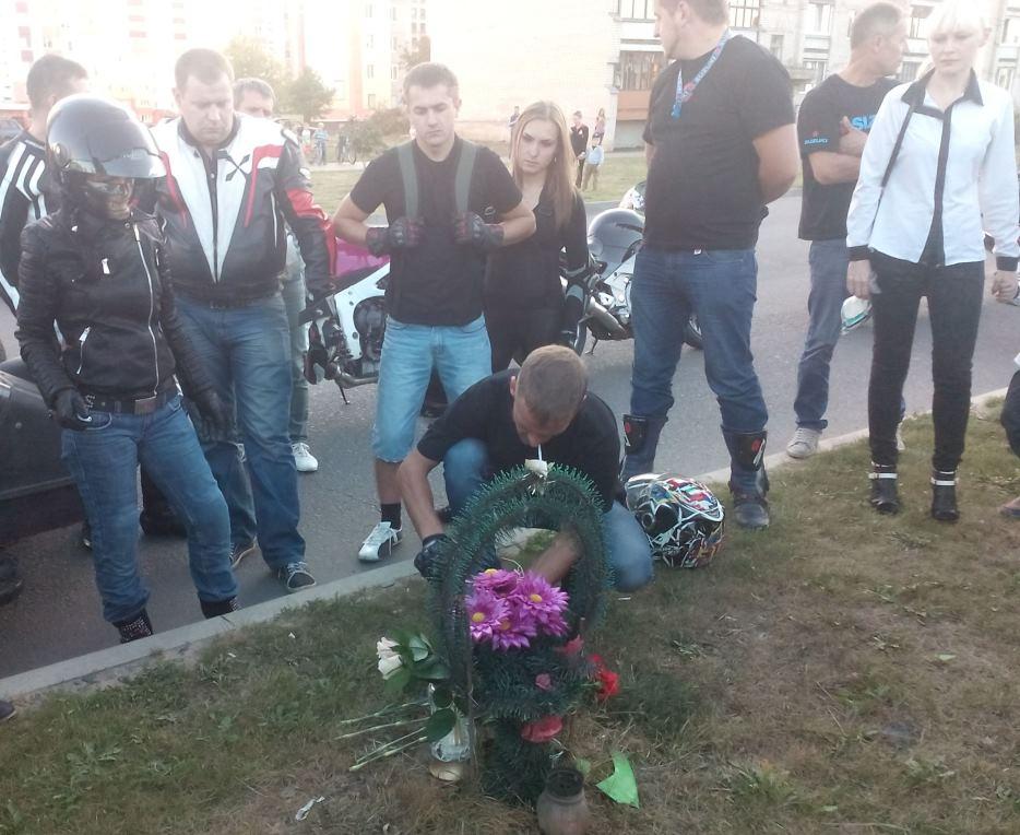 Место аварии на ул. Кирова. Фото: Анна РОМАНОВА-КОЛОСОВСКАЯ