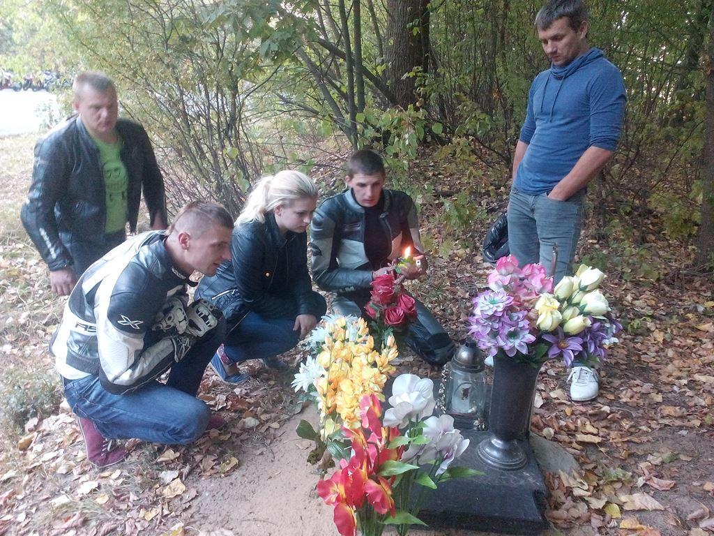 Место аварии в Ляховичском районе. Фото: Анна РОМАНОВА-КОЛОСОВСКАЯ