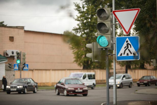 Перекресток улиц Чернышевского и 50 лет БССР. Фото: Александр КОРОБ.