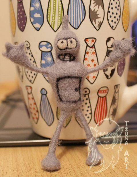 Робот из мультфильма Футурама. Фото из архива мастера.