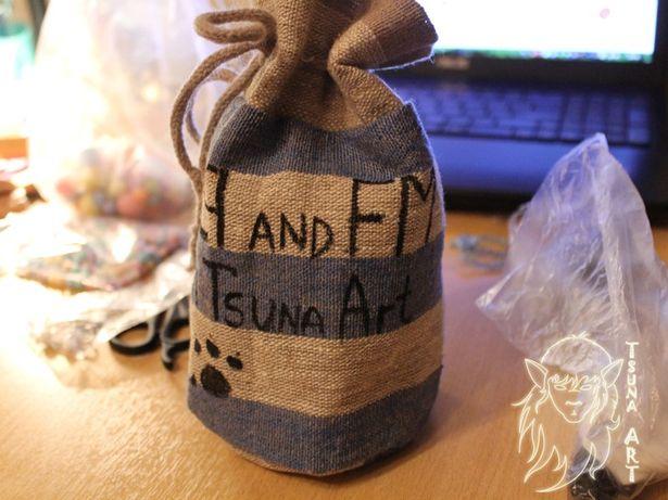 Мешочек, в который был упакован Ним для группы Linkin Park. Фото из архива мастера.