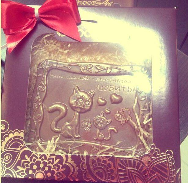 Шоколадный барельеф. Фото: архив магазина.