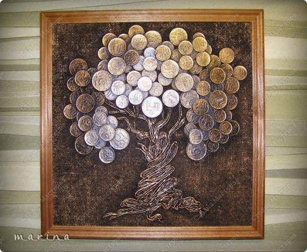 Панно Денежное дерево. Фото с сайта stranamasterov.ru