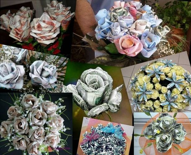 Розы, скрученные из купюр. Фото с сайта dengiledi.ru