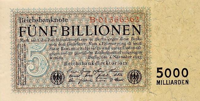 5 трлн марок (1923)