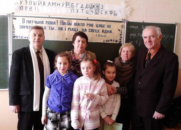 Віншаванне беларускамоўнага класа з Днём роднай мовы, 2013 год.