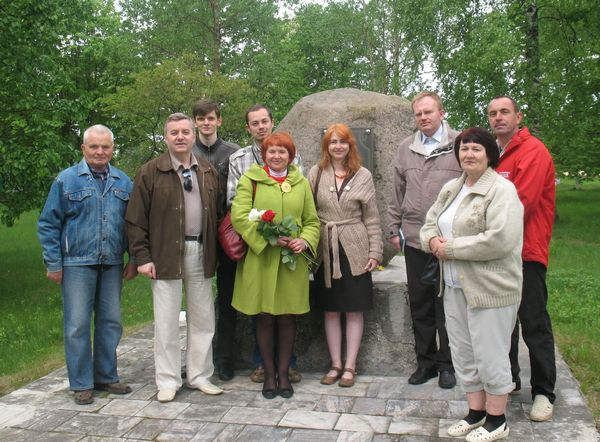 У в. Лясная на ўрачыстасцях да 130-годдзя Уладзіслава Галубка, 2012 год.