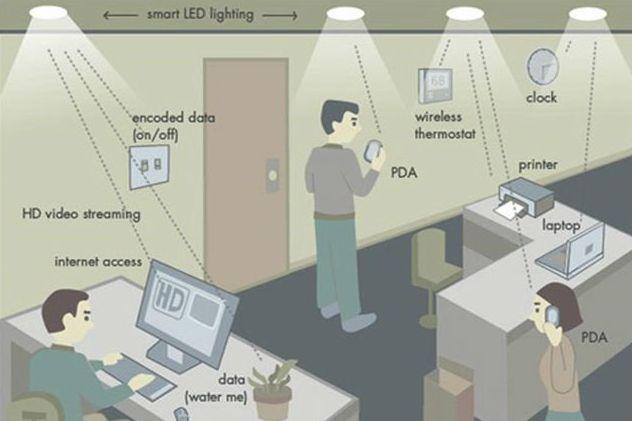 Тэхналогія Li-Fi. Фота: Boston University